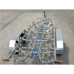 Fully weld tandem axle boat trailer