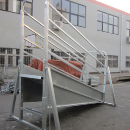 Galvanized portable Cattle loading ramp
