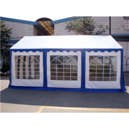 Party tent 3 x 6m whit and blue color