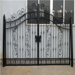 Elegant Wrought Iron Gate