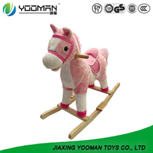 Lovely Design Safety Baby Wooden Rocking Horse