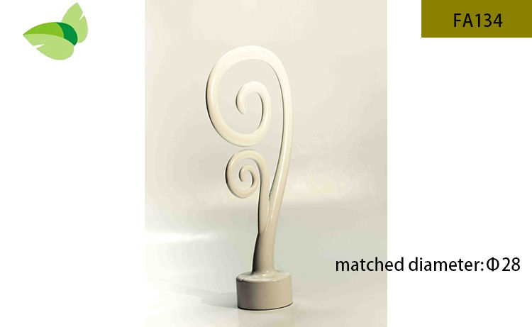 FA134,aluminium alloy finials decorative iron finials curtain rod finials