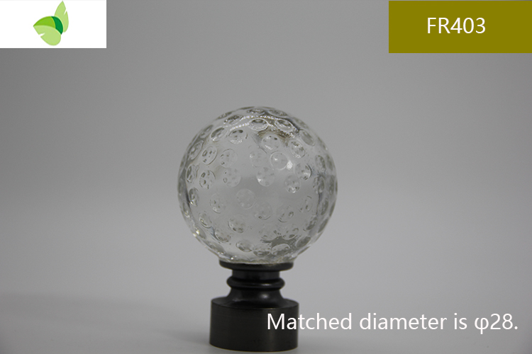 FR403,crystal finials