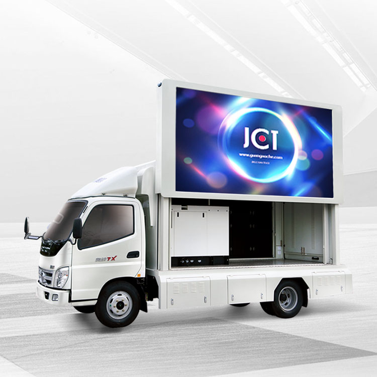 mobile led screen advertising truck