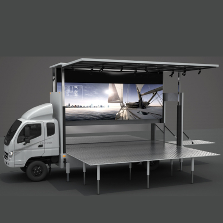 large screen exhibition mobile truck