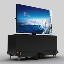 Outdoor mobile led advertising trailer