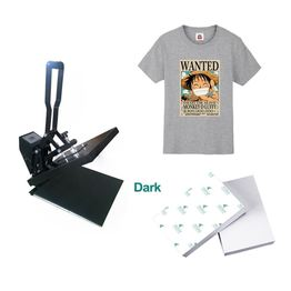 Inkjet dark heat transfer paper