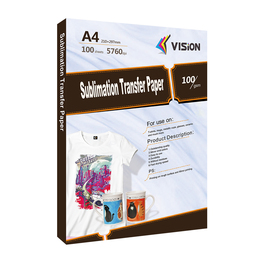 100gsm A4 and A3 sublimation transfer paper for mug printing