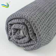 dark gray microfiber waffle weave car towels weight 350gsm