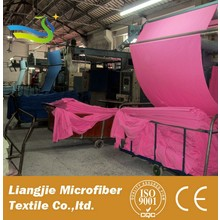 polyester peached microfiber fabric 3D custom print microfiber suede for towel microfiber stretch fabric