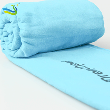 Fast drying 250gsm microfiber towel used as sports towel in square and round shape with low price