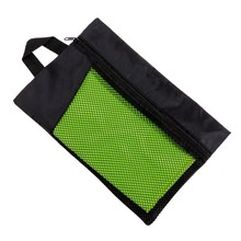Quick dry and sand free microfiber Sport and Beach Towel In Mesh Bag