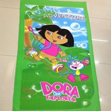 china factory custom design rectangle sublimation photo printed beach towel microfiber for kids