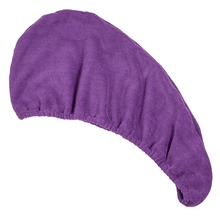 Soft microfiber dry hair hood towel