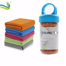 workout towel Best- Selling New-style Microfiber Cooling Sports Gym Yoga Towel in plastic bottle