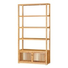 Wholesale popular hot design library reading room furniture bamboo floor stand vanity cabinet BC021