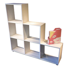 Movable Eco friendly triangle kid library reading room furniture white book rack furniture bookcase online SJ173020