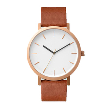 Minimalistische Private Label Benutzerdefinierte Logo Wrist Watch