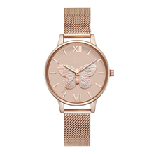 Special 3D bee butterfly dial design custom brand name minimalist women watch