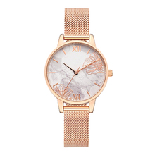2019 Fashion Luxury Rose Gold Mesh Strap 3D Flower Texure Dial Women Wrist Watch