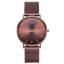 Coffee Gold Minimalist Custom Brand Name Unisex Watch