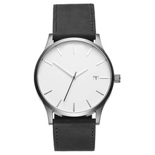 Custom Logo Own Brand Minimalist Quartz Wrist Man Leather Watch