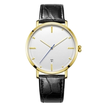 Simple Design Stainless Steel Water Resistant Unisex Watches With Date