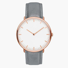 Stainkless Steel Japan Quartz Genuine Leather Watch