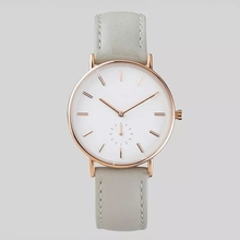 Trendy Design Leather Strap Stylish Japan Beweging Woman Watch OEM ODM Wristwatch