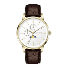 Neue Ankunft Japan Movt Quartz Watch Automatic Moon Wristwatch Men