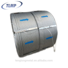 High tensile strength 15.2mm galvanized Prestress Concrete pc Steel Strand for railway sleeper
