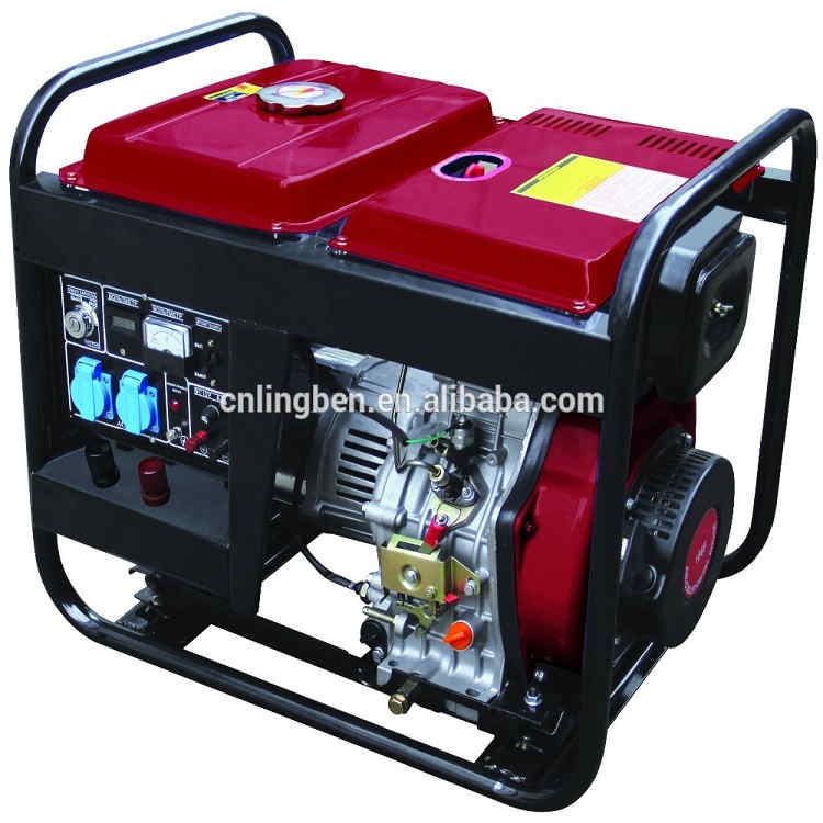 Lingben 5kw open type diesel generator set price list