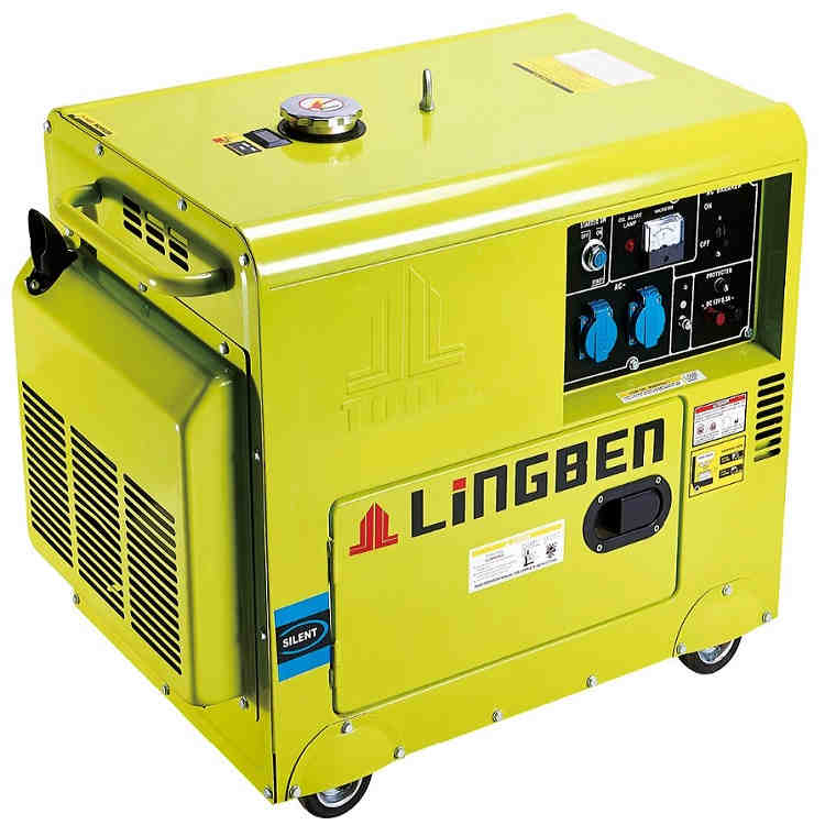 Lingben China 5kva super silent diesel power generator