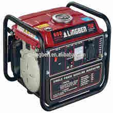 Lingben 500w mini power generator gasoline 12v dc generator low rpm