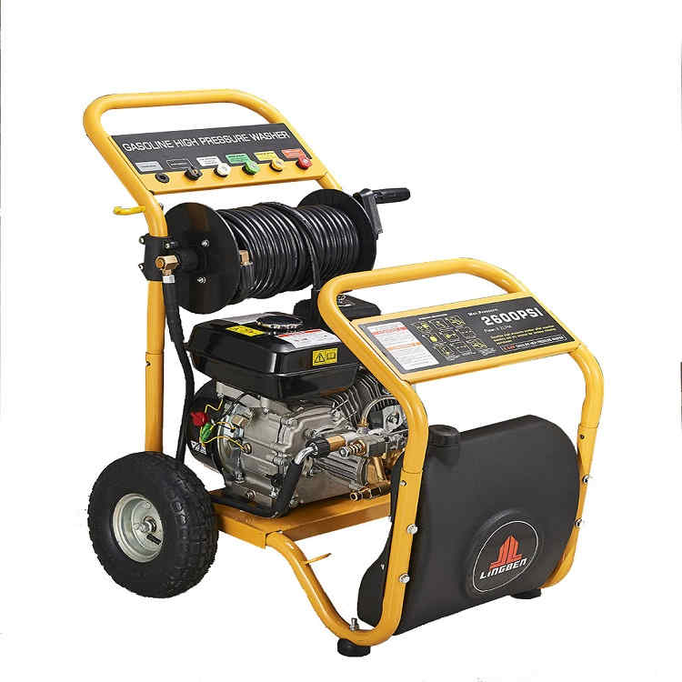 Lingben China new design popular in UK 2600PSI good quality gasoline portable high pressure washer