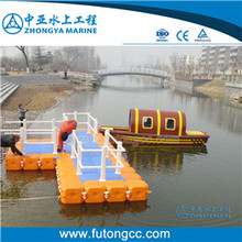 Wind Resistance Modular Floating Pontoon Dock at Sea