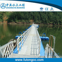 100% Recyclable Resistant to Corrosion Anti-UV Floating Pontoon Bridge