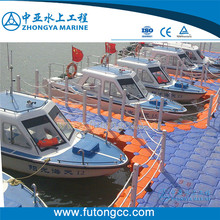 Highly Quality Plastic Modular Floating Dock for Boats plastic floating dock