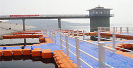 The floating jetty is a floating dock that is designed to float up and down with the water level