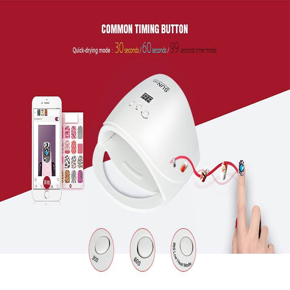 LED nail dryer dual power