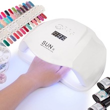 SUN X 54W Nail Dryer UV LED Lamp LCD Display 36 LEDs Dryer Lamp for Curing Gel Polish Auto Sensing Nail Manicure Tool