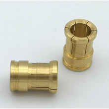 CNC machining brass contact sleeve for connector part