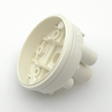 Injection molded part for white pressure switch body