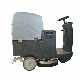 New ride on floor scrubber machine single brush self driving warehouse floor cleaning machine