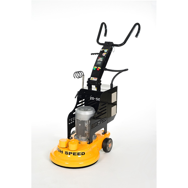 Cleaning big floor scrubber