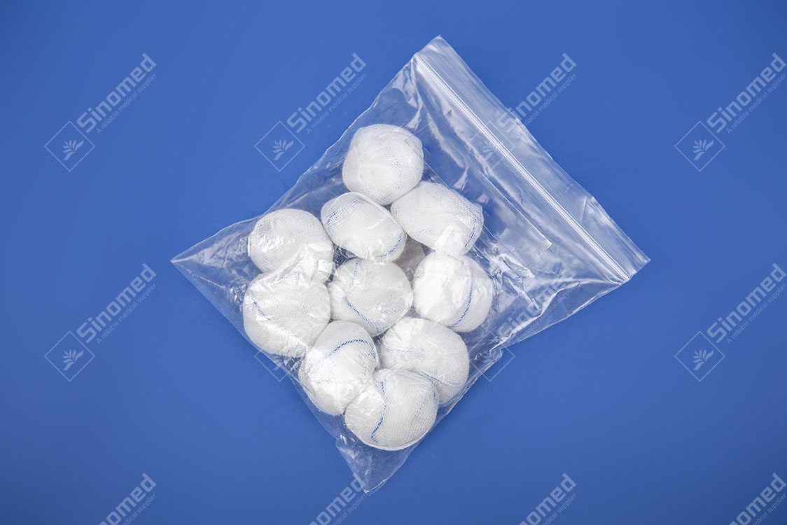 Wholesale wound care home medical supplies skin disinfection medical gauze ball Cheap Price Manufacturers