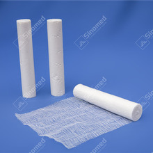 High quality cotton fabric medical gauze bandage roll size white gauze roll