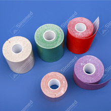 Custom first aid tape roll printed high quality waterproof elastic sports tape pre cut athletic kinesiology tape