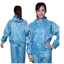 Cleanroom Jacket and Pants ESD Suit With Hood