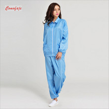 Cleanroom Jacket and Pants Turn-down Collar ESD Clothes Suit